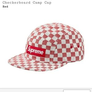 Supreme checkerboard camp cap hat SOLD OUT